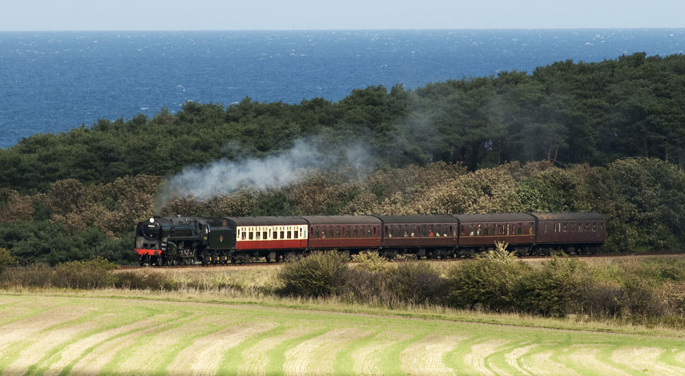 Sheringham to Holt steam train on the Norfolk Norfolk Railway